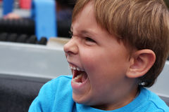Portrait of laughing boy Royalty Free Stock Photos