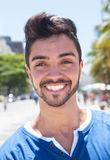 Portrait of a laughing brazilian guy Royalty Free Stock Image