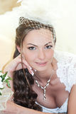 Portrait laughing bride Royalty Free Stock Photo