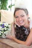 Portrait laughing bride Stock Photo