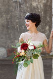 Portrait of laughing bride Royalty Free Stock Photography