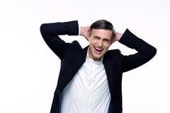 Portrait of a laughing busienssman Stock Images