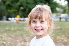 Portrait of a laughing child Royalty Free Stock Images