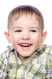 Portrait of a laughing child Royalty Free Stock Photos