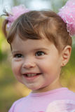 Portrait of a laughing cute little girl Stock Photo