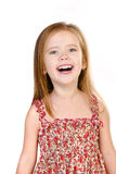 Portrait of laughing cute little girl isolated Royalty Free Stock Image