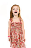 Portrait of laughing cute little girl isolated Stock Images