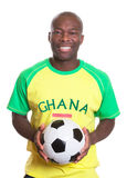 Portrait of a laughing football fan from Ghana wit Stock Image