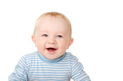 Portrait of laughing funny baby boy Stock Photo