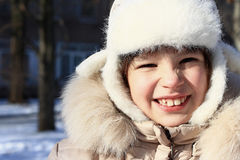 Portrait of a laughing girl. Royalty Free Stock Photography