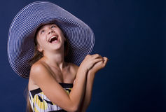 Portrait of laughing girl-teens Royalty Free Stock Images
