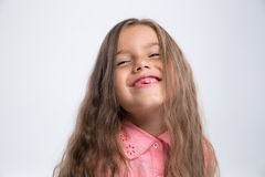 Portrait of a laughing little girl Royalty Free Stock Photography