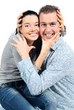 Portrait of laughing loving couple Royalty Free Stock Photos