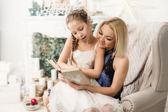 Portrait of laughing  mother and daughter Royalty Free Stock Images