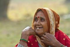 Portrait of laughing Nepali woman Stock Photo