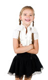 Portrait of laughing schoolgirl isolated Royalty Free Stock Photography