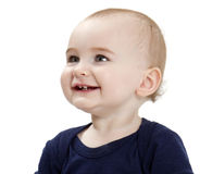 Portrait of laughing toddler Stock Photo