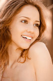 Portrait of laughing woman Royalty Free Stock Images