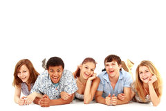 Portrait of laughing young friends Royalty Free Stock Photos
