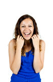 Portrait of a laughing young woman Stock Photography