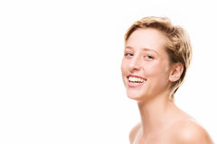 Portrait of a laughing young woman Stock Photo