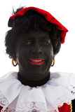 Portrait of laughing Zwarte piet ( black pete) Stock Photos