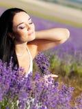 Portrait in lavender Stock Image