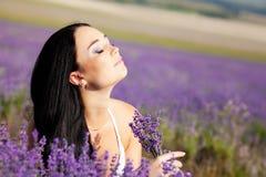 Portrait in lavender Stock Photo
