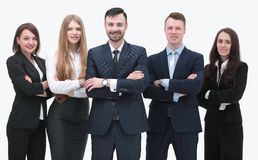 Leader and successful business team Stock Image