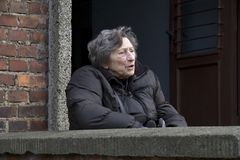 Portrait of Lenie Boeken-Velleman Stock Photography