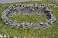 Portrait les ruines d'une Chambre dans Castro Of Santa Tecla In celtique la garde Architecture, histoire, voyage 15 août 2014 La image stock