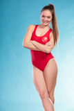 Portrait of lifeguard lifesaver woman. Royalty Free Stock Images
