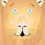 Portrait of a lion. Vector illustration of a beautiful portrait of a lion Stock Images