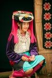 Portrait of Lisu minority hill tribe in Thailand. Stock Photo