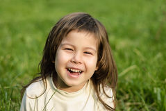 Portrait of the littel girl. Outdoor shoot Royalty Free Stock Photography