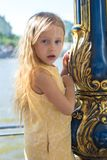 Portrait of little adorable charming funny girl Royalty Free Stock Photography