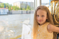 Portrait of little adorable charming girl Royalty Free Stock Image