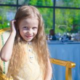 Portrait of little adorable charming girl Royalty Free Stock Photo