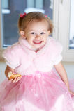 Portrait of little adorable girl. Royalty Free Stock Photos