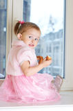 Portrait of little adorable girl. Royalty Free Stock Photo