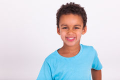Portrait of a little African American boy smiling Stock Photo