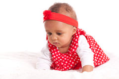 Portrait of little African American little girl - Black people Stock Photo