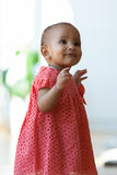 Portrait of little African American little girl smiling - Black Stock Photography