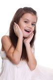 Portrait of a little amazing girl Royalty Free Stock Image