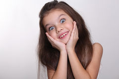 Portrait of a little amazing girl Stock Photography