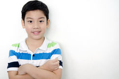 Portrait of little asian cute boy with blank space Stock Photos