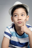 Portrait of little asian cute boy Stock Images