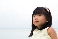Portrait of Little Asian Girl Stock Image