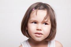 Portrait of little Asian girl. The portrait of little Asian girl royalty free stock photos