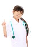 Portrait of little asian girl nurse. Portrait of little asian girl in a nurse uniform Royalty Free Stock Image